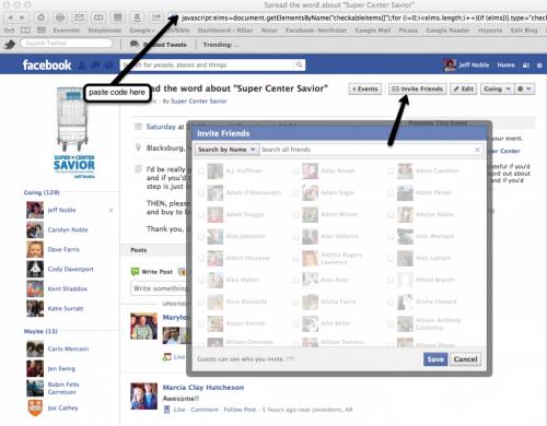 facebook select