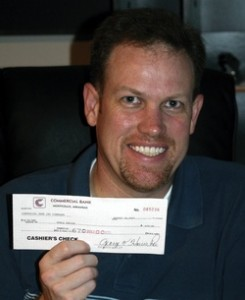 My first check from a Noble Design client - Commercial Bank